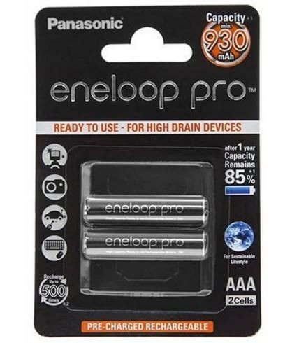 Аккумулятор Panasonic eneloop pro BK-4HCDE/2BE 930mAh R03 AAA BL2