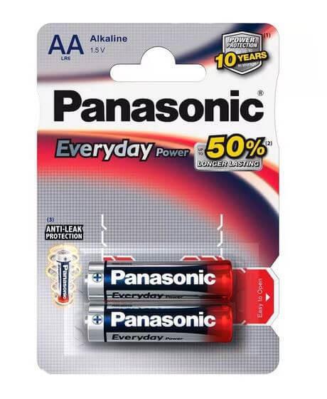 Батарейки Panasonic LR6 Everyday Power BL2