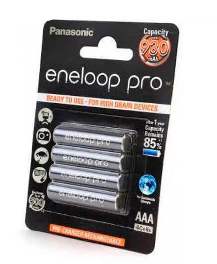 Аккумулятор Panasonic eneloop pro BK-4HCDE/4BE 930mAh AAA R03 BL4