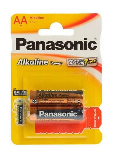 Батарейки Panasonic LR6 Alkaline Power BL*2