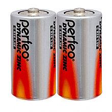 Батарейка С Perfeo R14/2SH Dynamic Zinc, 2шт в упаковке, напряжение 1.5 В