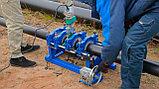 Механический редукторный сварочный аппарат c манометром  для стыковой пайки ПВХ труб от 63 до 200мм, фото 2