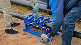 Механический редукторный сварочный аппарат c манометром  для стыковой пайки ПВХ труб от 90 до 250мм, фото 2