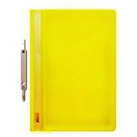 Папка-скоросшиватель А4 прозрачный верх 100/120 мкм, Желтая.