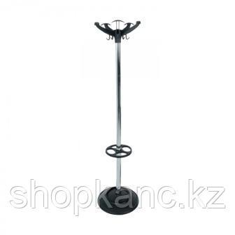 Вешалка напольная Браво, черный пласт., серый каркас,  180 см,