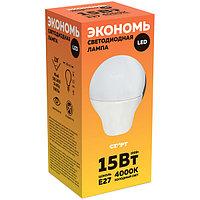 Лампа светодиодная, ECO LED GLS, E27, 15W40.