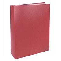 Папка с файлами, 60ф., А4, 0.6мм, BASIC, красный арт.255150-27