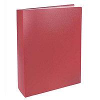Папка с файлами, 100ф., А4, 0.8мм, BASIC, красный арт.255152-27