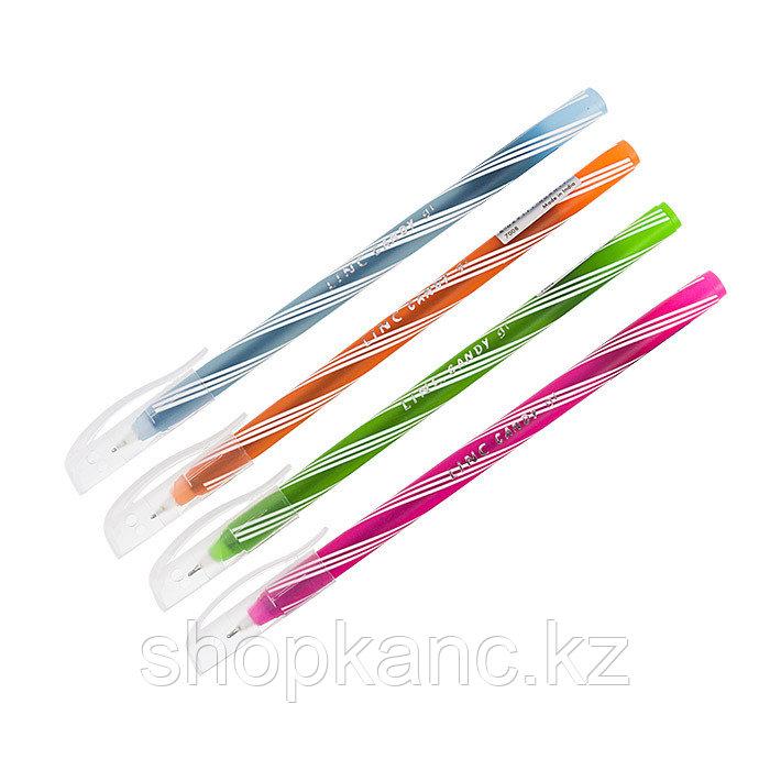 Ручка шариковая LINC Candy 0,6 мм синяя в дисплее цвет корпуса ассорти одноразовая