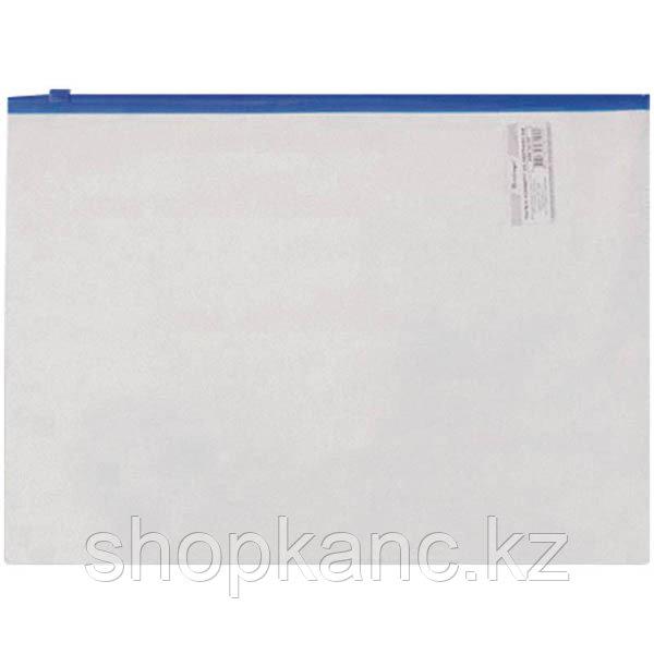 Папка на молнии А5, 110мкм, прозрачная