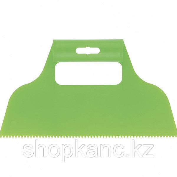 Шпатель для клея, пластмассовый, зубчатый 2х2 мм