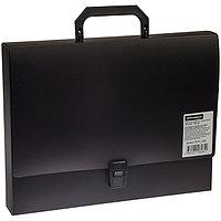 Папка-портфель 1 отделение, 600 мкм, черный.