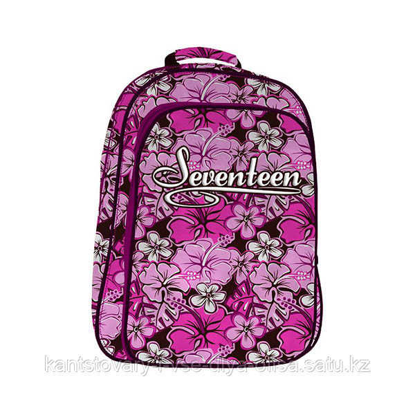 Школьный рюкзак, текстиль, размер  44х34х16 см