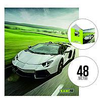 Тетрадь А5, 48 л., клетка, Car, KANC.KZ
