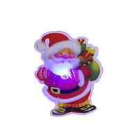 Магнит фигурка Дед мороз с диодной подсветкой