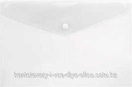 Конверт на кнопке Lamark, А4, 0,18 мм, глянцевый, прозрачный