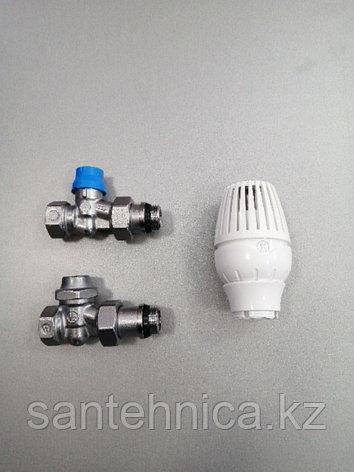 Комплект термостатический для радиатора Ду15 прямой, фото 2