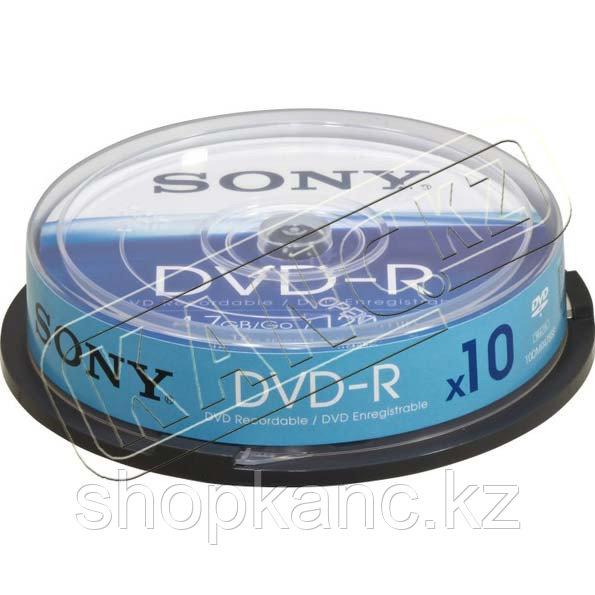 Диски Sony DVD-R 10 шт.  шпиндель.