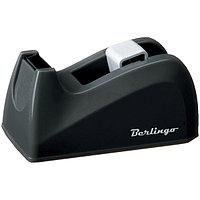 Диспенсер настольный Berlingo для канцелярской клейкой ленты, цвет черный.