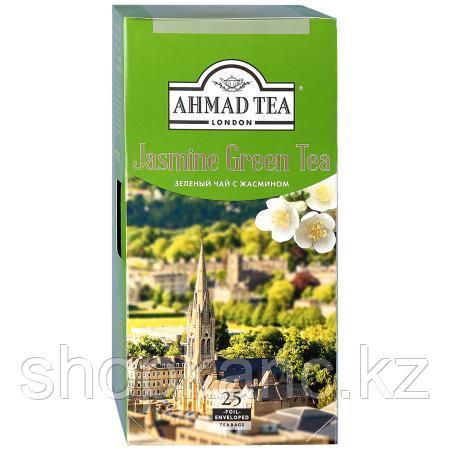 Чай Ahmad Tea, Зеленый с жасмином, пакетики в конвертах из фольги, 25*2г.