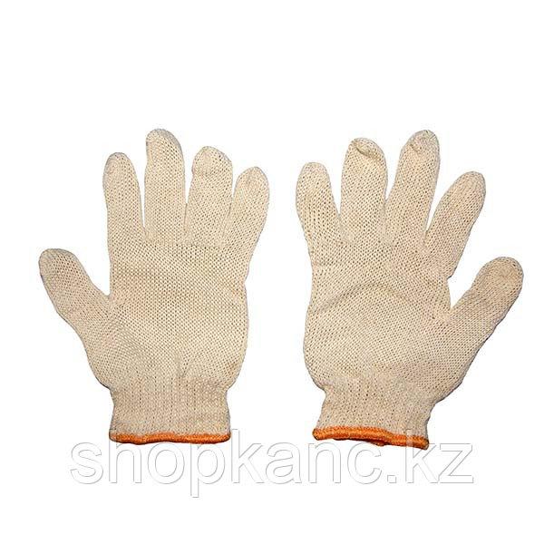 Перчатки трикотажные пятипалые,1 пара.