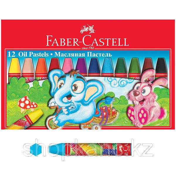 Масляная пастель, 12 цветов, в картонной коробке.