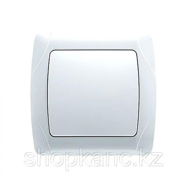 Выключатель, Carmen Beyaz, 1 клавишный, цвет белый.