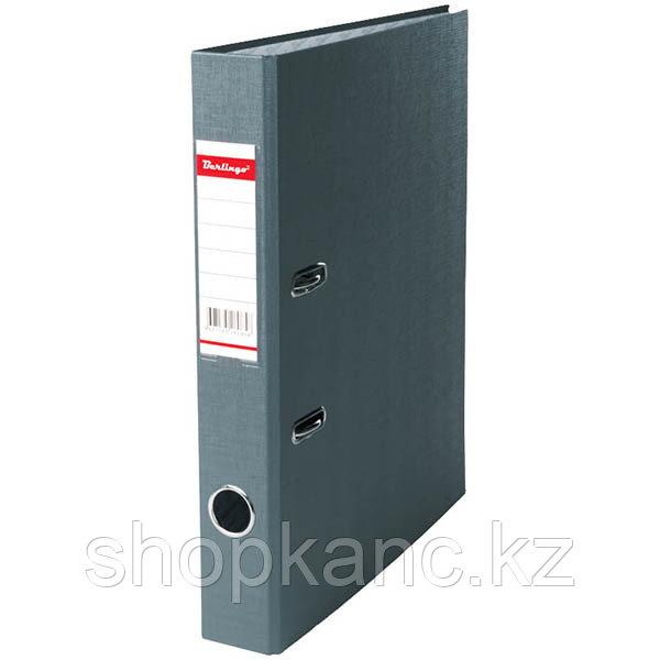 Папка-регистратор, А4, 50 мм, бумвинил/бумага, серый.