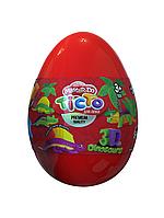 """Набор креативного творчества Тесто для лепки Master Do """"Dinosaurs Eggs Красное"""""""