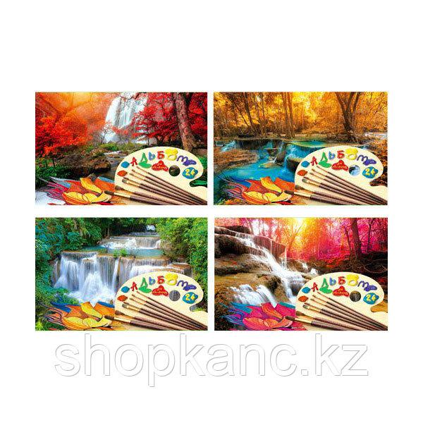 Альбом для рисования, Водопады, А4, 24 листа.