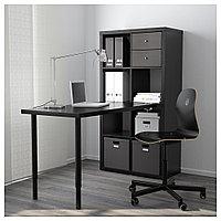 КАЛЛАКС Стол, комбинация, черно-коричневый, черно-коричневый 77x147x159 см