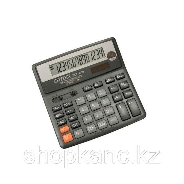 "Калькулятор "" Citizen "" 14 per,SDC-640"