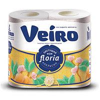 Туалетная бумага Linia Veiro 2-х сл.,4рул. Цветущий апельсин.