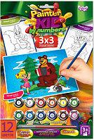 "Набор для творчества ""Раскраска по намерам Painter kids Маша и медведь с елочкой"""