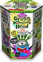 """Набор креативного творчества """"GRASS MONSTERS HEAD Волшебный боб синий горшочек"""""""
