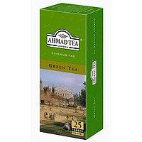 Чай Ahmad Tea, Зеленый чай, пакетики с ярлычками 25*2г.