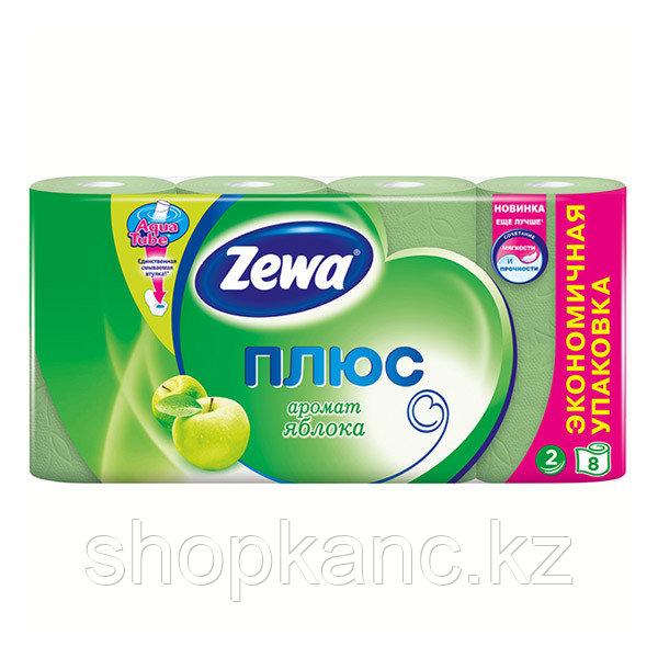 Туалетная бумага Zewa Плюс Яблоко  , 2-сл. 8 рул./упак.