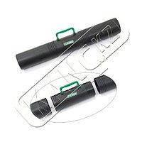 Тубус с ручкой 3-х секционный D100мм, L 650мм, черный, ПТ41