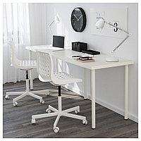 ЛИННМОН / АДИЛЬС Стол, белый, белый 200x60 см, фото 1