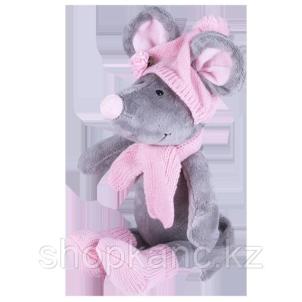 Мягкая игрушка Мышь в шапке, 36см Символ 2020 года.