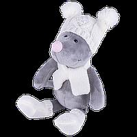 Мягкая игрушка Мышь в шапке, 26см Символ 2020 года.