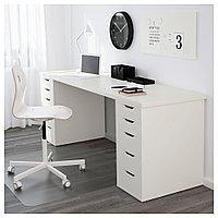 ЛИННМОН / АЛЕКС Стол, белый, белый 200x60 см, фото 1