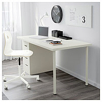 ЛИННМОН / АЛЕКС Стол, белый, белый 150x75 см, фото 1