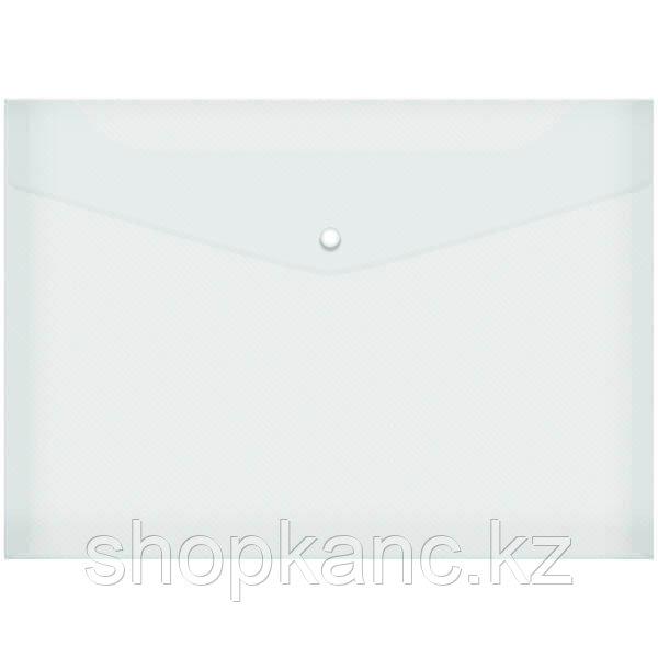 Пaпка-конверт на кнопке А4, 120 мкм, прозрачная.