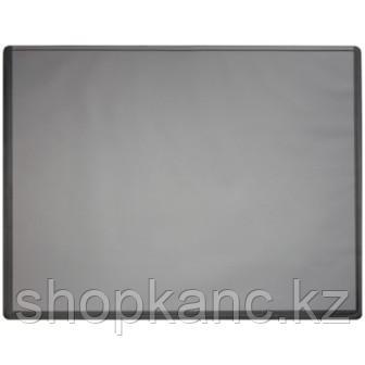 Покрытие настольное 63х50 см, форма трапеции, черное, с прозрачным верхом