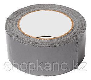 Скотч двухсторонний тканевый PET основа, цвет серый, ширина 50 мм., длина 20 м.