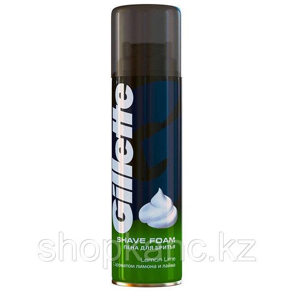 Пена для бритья Gillette С ароматом лимона и лайма 200мл.