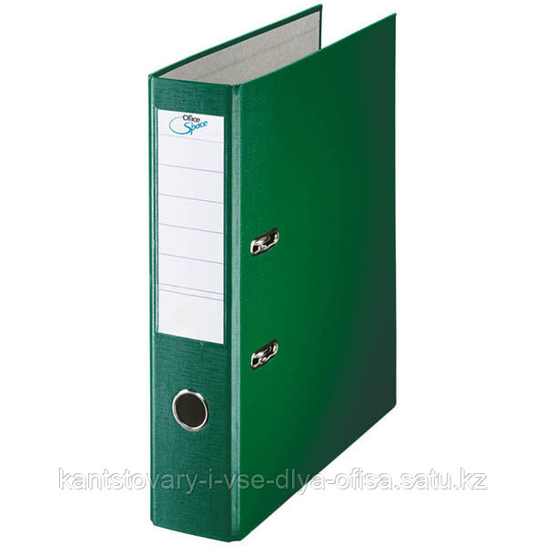 Папка-регистратор, А4, 70 мм, бумвинил/бумага, зелёный.
