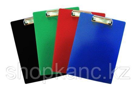 Папка-планшет пластиковая А4 с металлическим зажимом, 1,4мм, ассорти