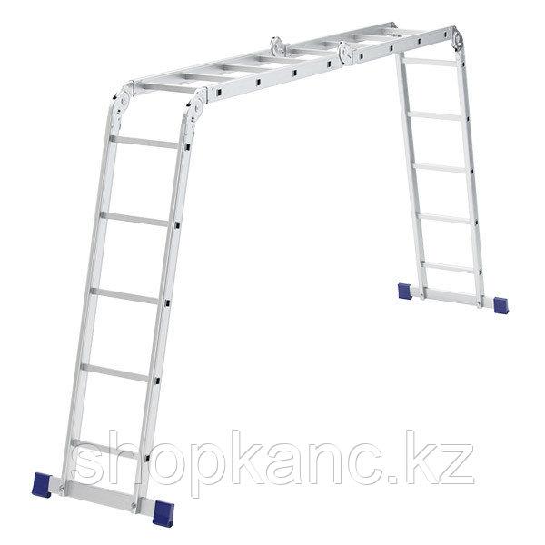 Лестница шарнирная алюминиевая, 2х4+2х5 Сибртех Россия